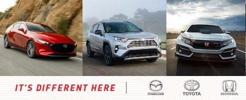 Shop Mazda, Toyota, Honda in Vancouver, Burnaby