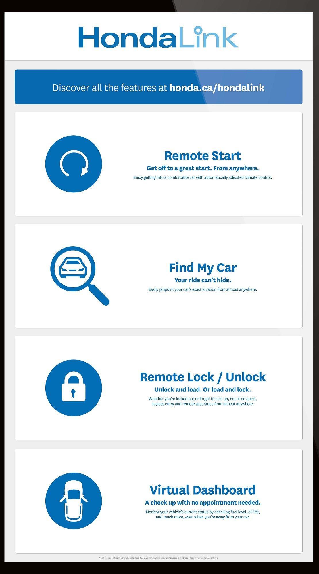 HondaLink App UI